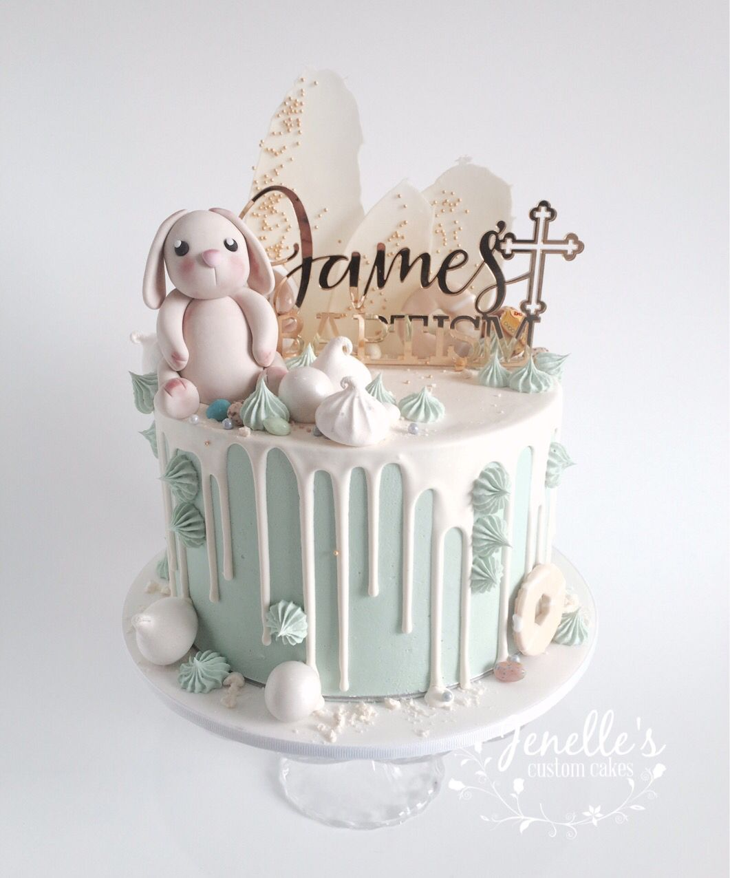 Green Drip Cake For James Baptism By Jenelle S Custom