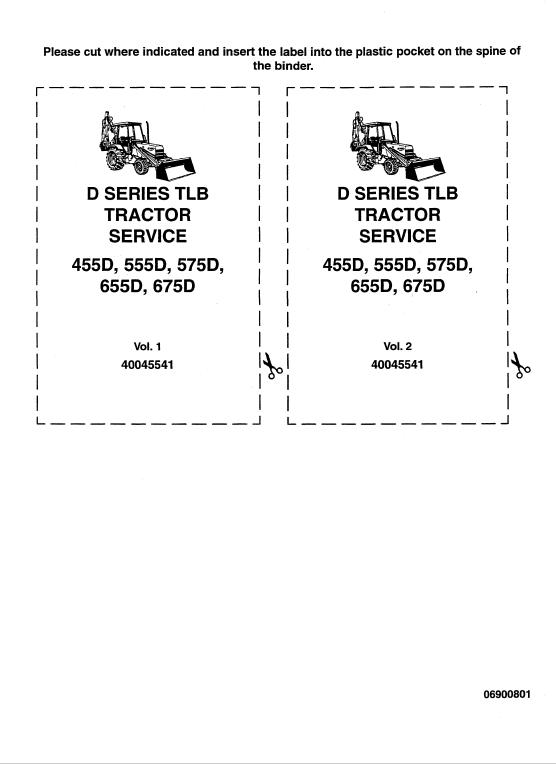 Ford 455d 555d 575d 655d 675d Backhoe Loader Service Manual Backhoe Loader Backhoe Ford