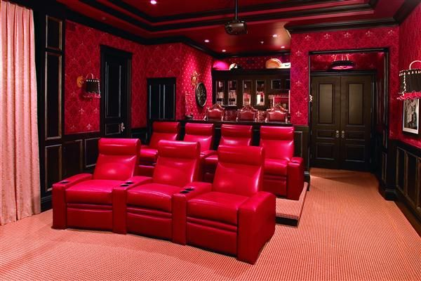Cosmopolitan home theater seating creative leather for Home theater furniture atlanta