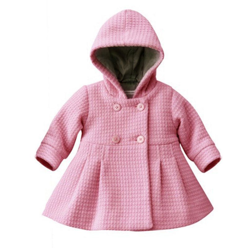 Toddler Baby Girl Warm Fleece Winter Pea Coat Snow Jacket Suit ...