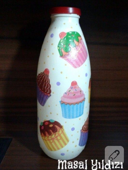 Süt şişesi Boyama Için Resim Sonucu Fikirler Home Decor Vase