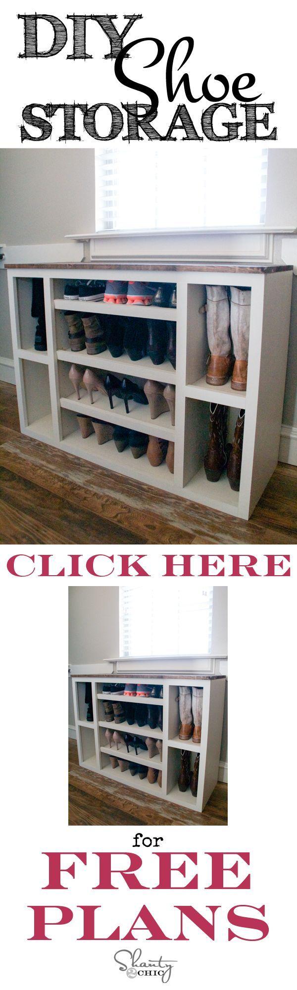 DIY Shoe Storage Cabinet AMAZING and