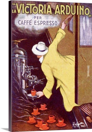 La Victoria Arduino, per Caffe Espresso, Vintage Poster, by Leonetto ...