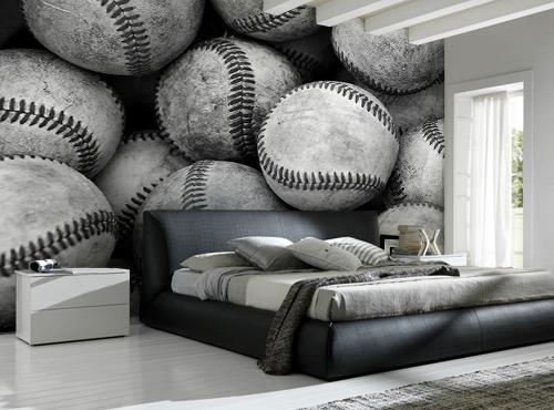 Baseball Wallpaper For Bedroom.Baseball Bucket Wall Mural Baseball Buckets Kids Wall