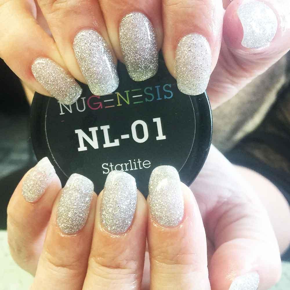 Dip Powder Manicure Nugenesis Nails Starlite Nl 01 In 2020 Powder Manicure Luxury Nails Powder Nails