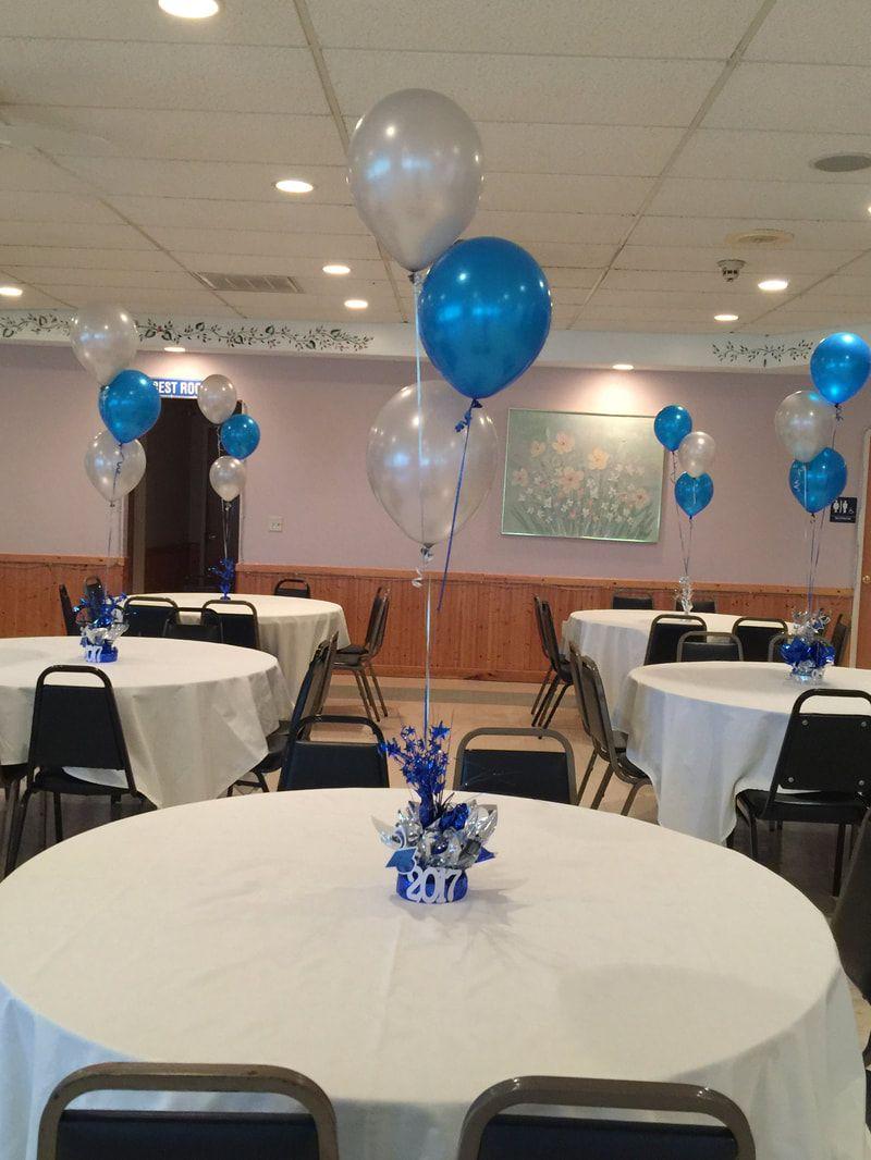 Simple balloon centerpieces graduation