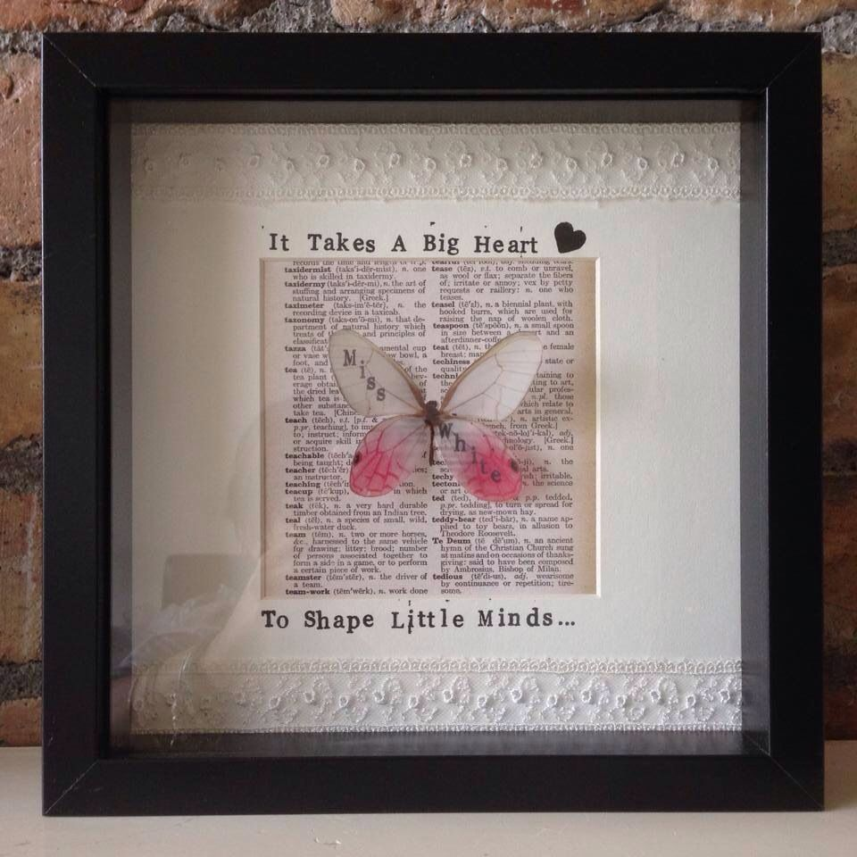 Here is our latest creation a gift frame for a teacher, end of ...