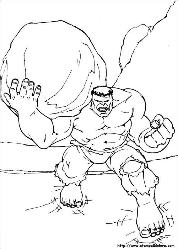 Disegni Da Colorare Incredibile Hulk