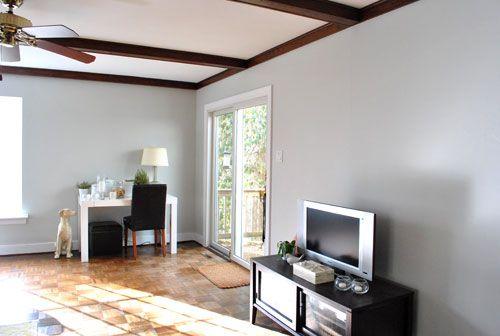 Heather Grey Walls Darker Gray Trim House Paint