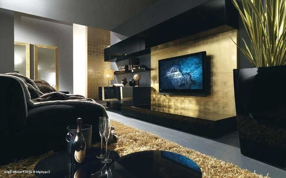 Attraktiv Schwarz Gold Wohnzimmer #sofawohnzimmer #luxus #tapeten #barock  #schlafzimmer #