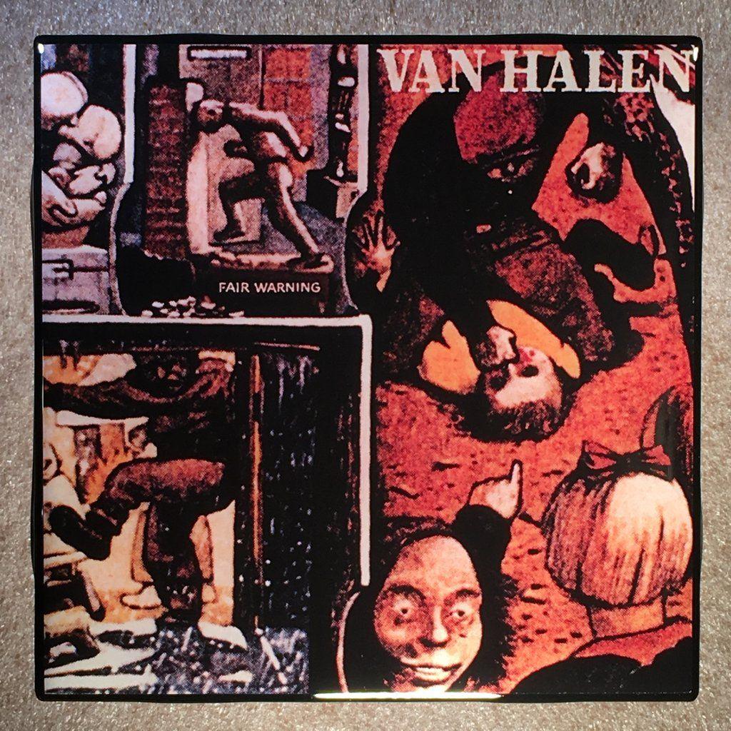 Van Halen Fair Warning Coaster Record Cover Ceramic Tile Van Halen Fair Warning Album Cover Art Van Halen