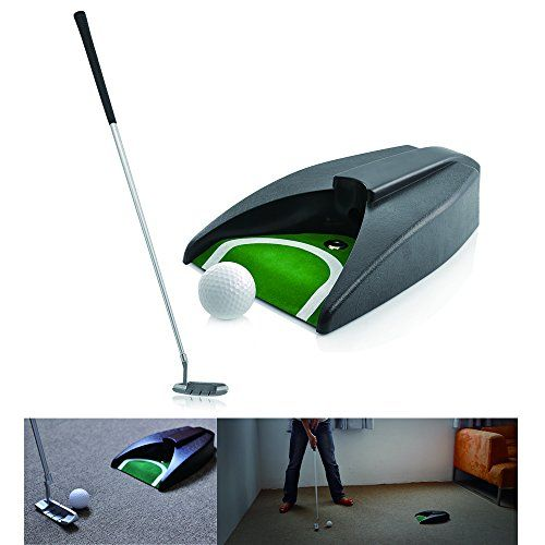 Leagy Portable Golf Putter Travel Practice Putting Set With Case Indoor Outdoor Yard Golfer Kids