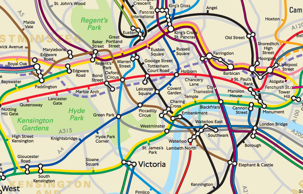 theres now a tube map that shows what london actually looks like