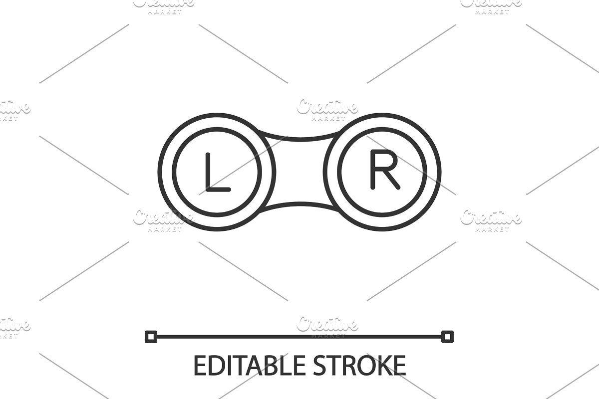 eye contact lens box linear icon [ 1200 x 800 Pixel ]