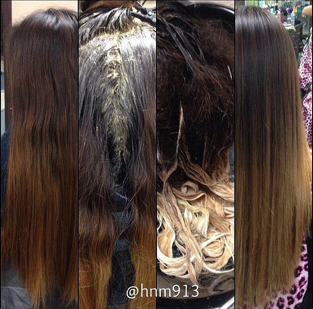 Double process ombré. #hair #ombre #balayage #beforeandafter #doubleprocess…