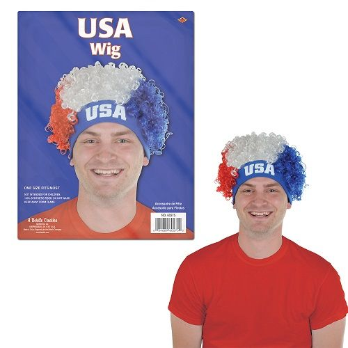 USA Wig. Stand out this Fourth of July with this USA Wig. http://www.novelties-direct.co.uk/USA-Wig.html
