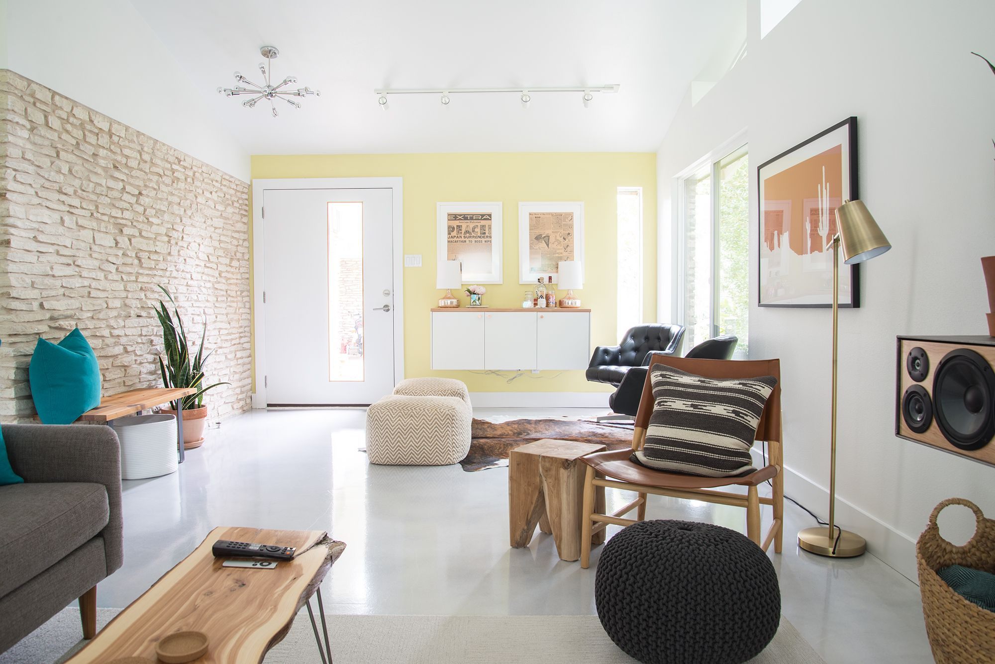 Tour a DIY-Obsessed Couple\'s Renovated 1960s Austin Home | Modern ...