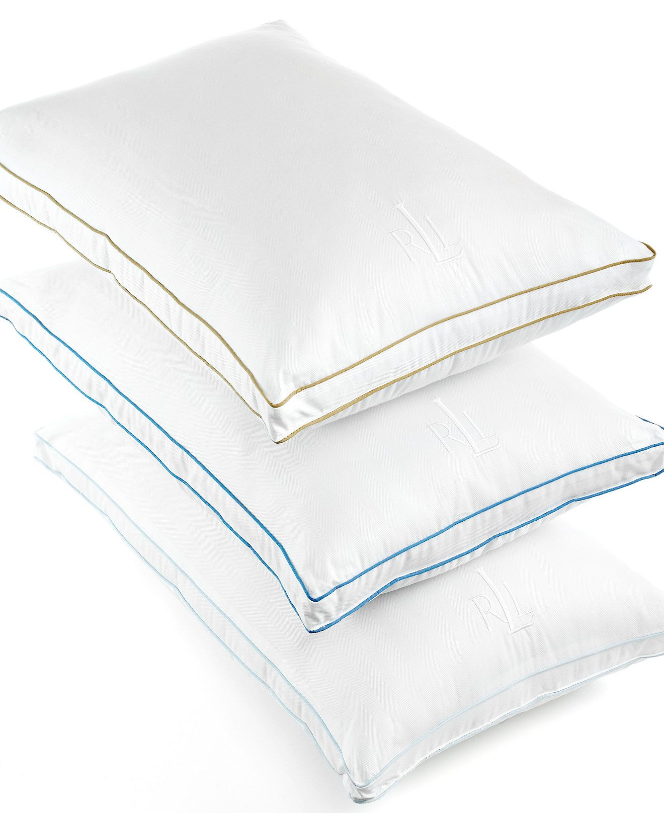 Lauren Ralph Lauren Lawton Down Alternative Gusset Pillows 300 Thread Count Pillows Bed Bath Macy S Bed Pillows King Pillows Pillows