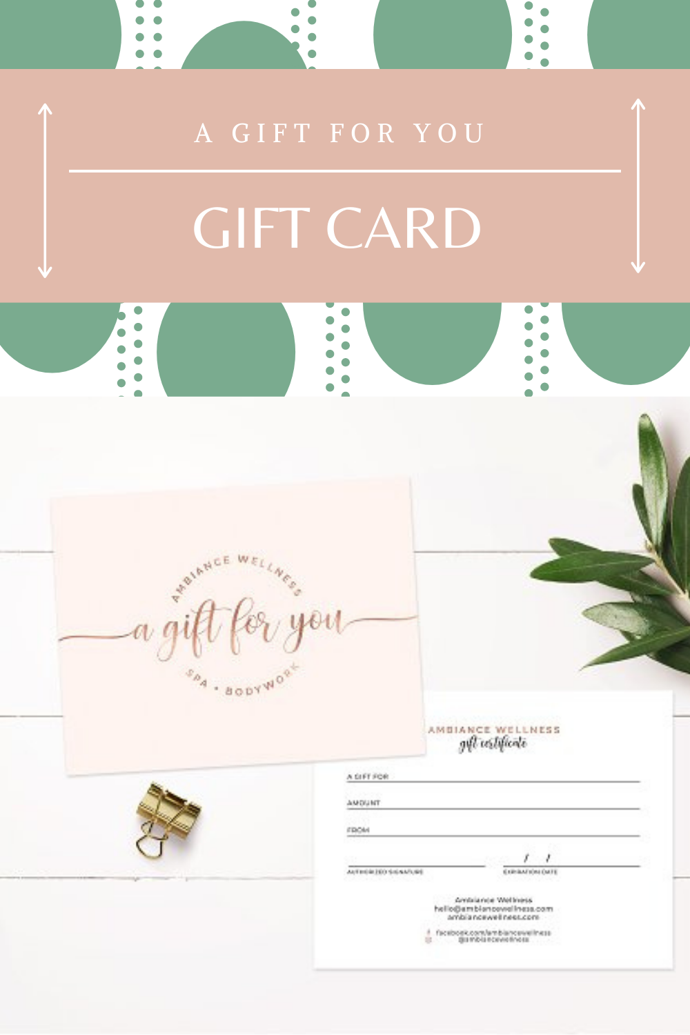 Modern Gift Certificate Template Spa Gift Certificate Gift Certificate Template Gift Card