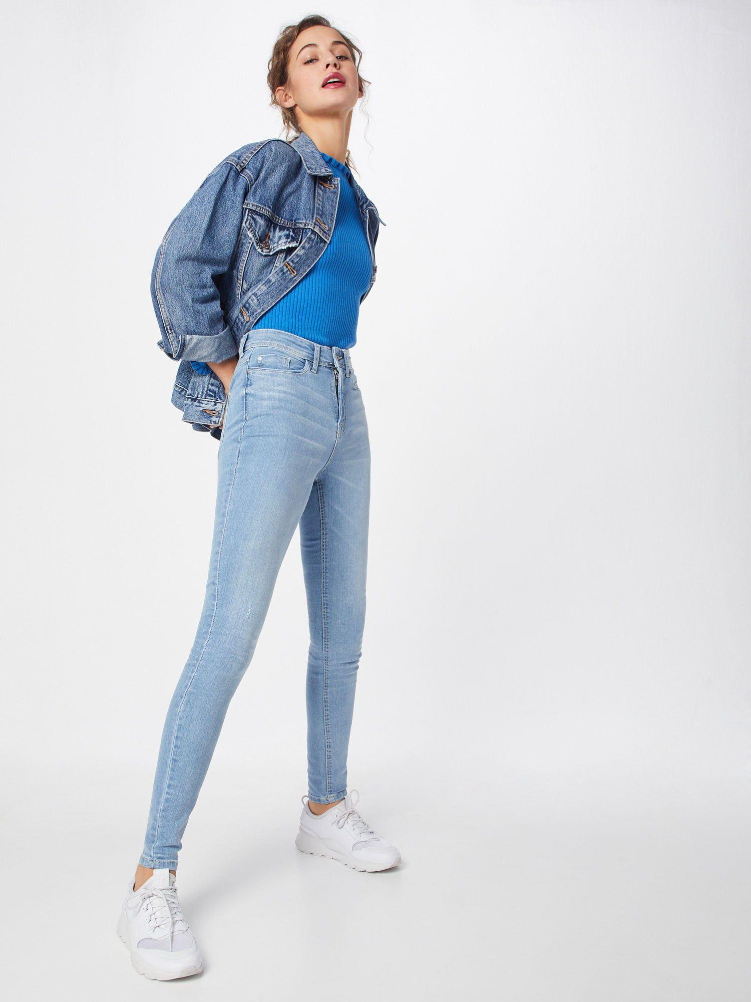 JACQUELINE De YONG Jeans 'Jona' Damen, Hellblau, Größe 25