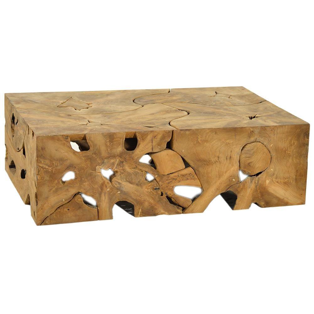 Dovetail Block Teak Root Coffee Table Coffee Table Coffee Table Furniture Handmade Furniture [ 1000 x 1000 Pixel ]