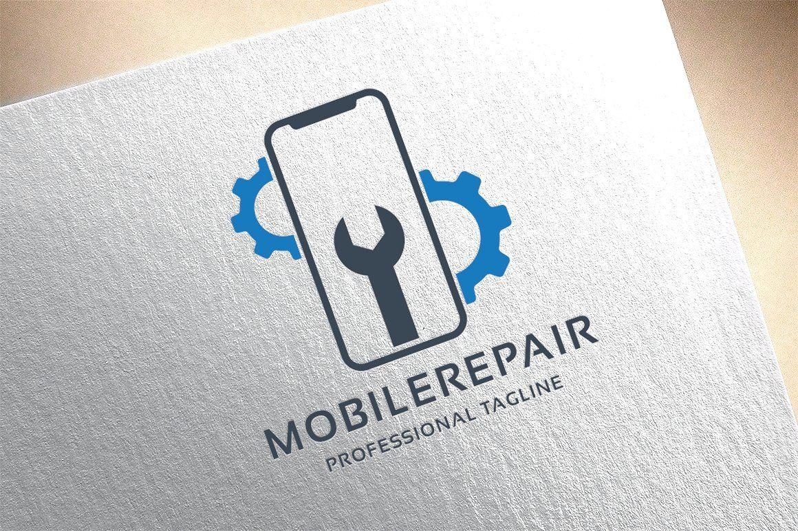 Mobile Repair Logo Business Card Logo Design Mobile Logo Logo Design