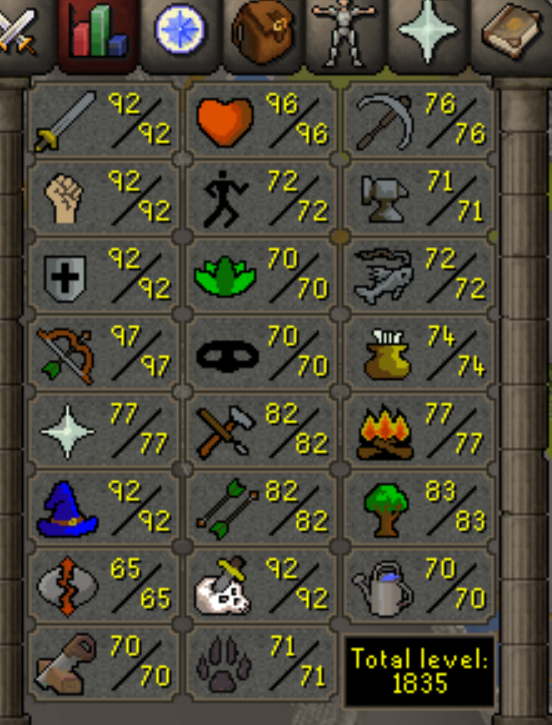 Very Awesome Main Melee Oldschool Rs Account Total Level 1835 Trained Years Two Years Price 350 Usd Sta Runescape 2007 Way To Make Money How To Get Money