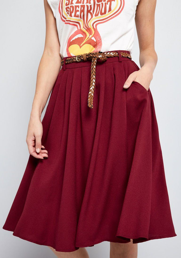 b04944be3 Breathtaking Tiger Lilies Midi Skirt in M - Full Skirt by ModCloth