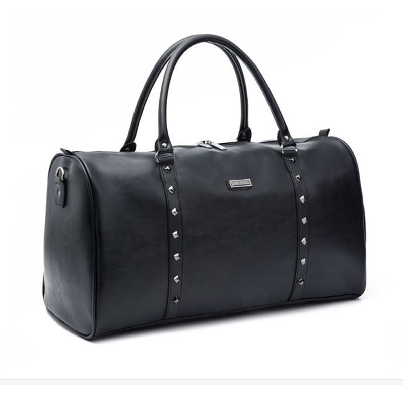 35L men travel bags hand luggage Rivets packing cubes Business waterproof  organizadores male huge capacity pu leather travel bag 0d6ad1adab00b