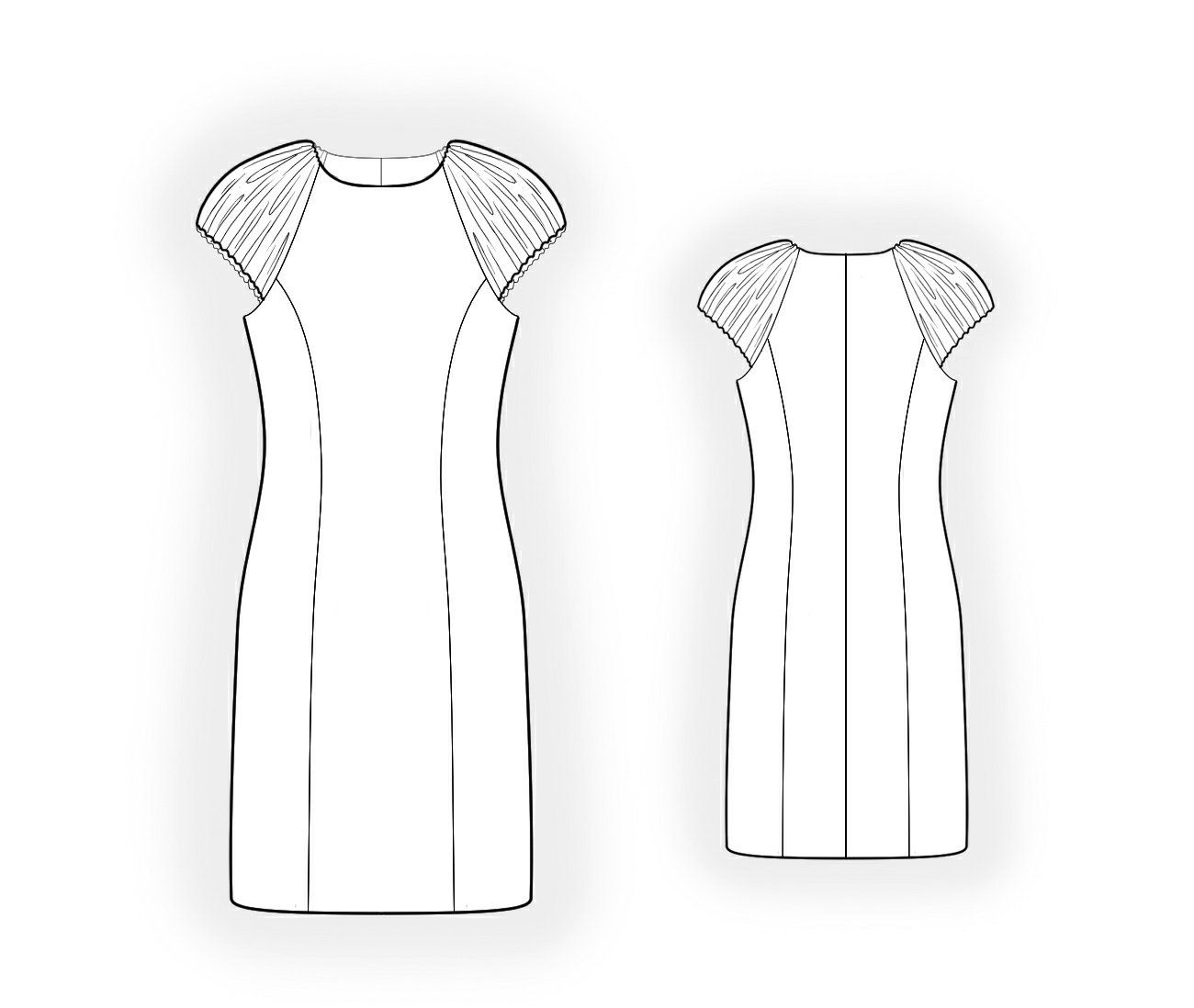 Velvet Dress - Sewing Pattern #4066 Made-to-measure sewing pattern ...