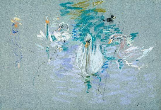 Afbeelding Berthe Morisot - Swans