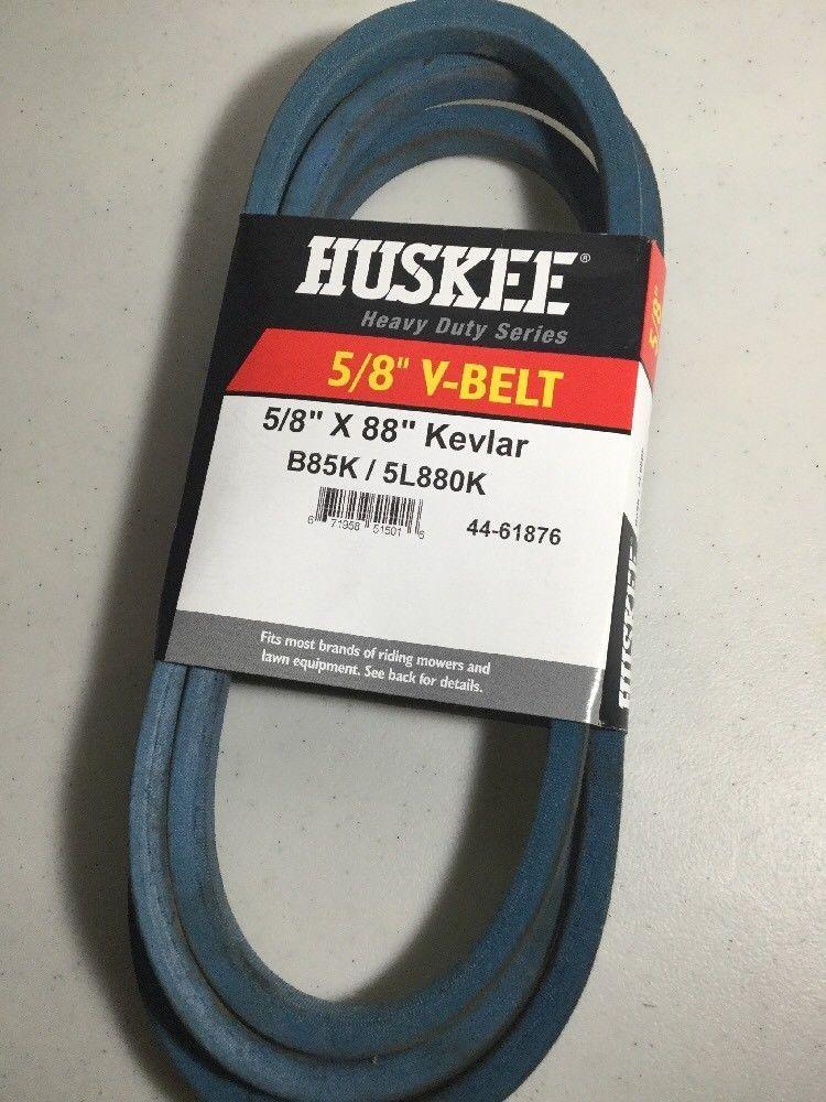 Huskee V Belt Made With Kevlar Cord 88in L X 5 8in W Model B85k 5l880k Belt Kevlar Model