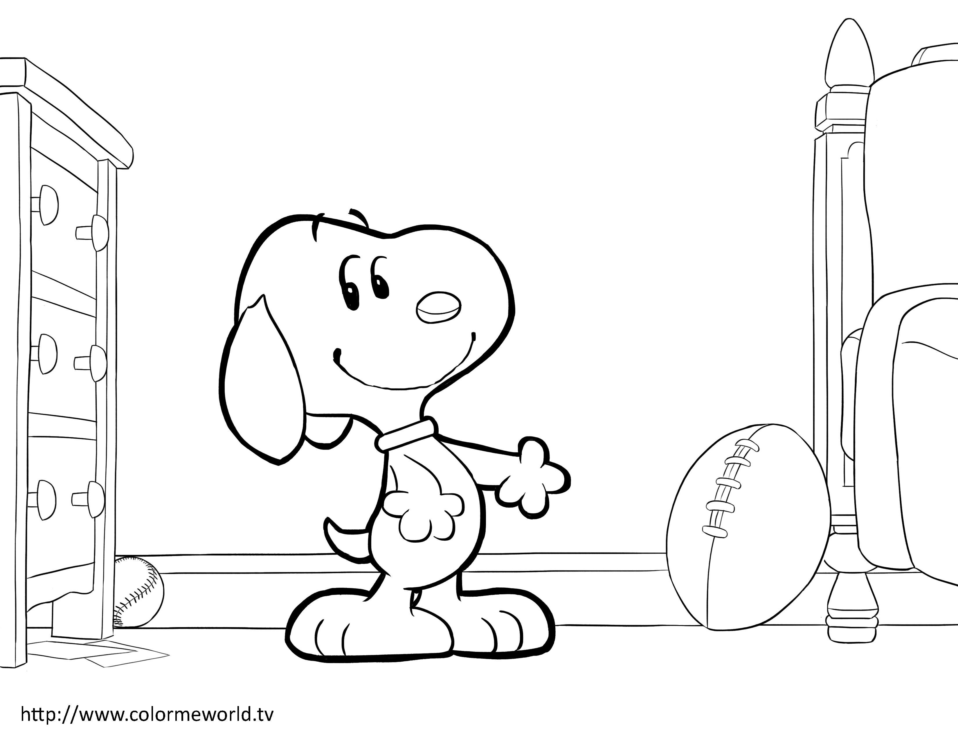 Snoopy And Woodstock Printable Coloring Page