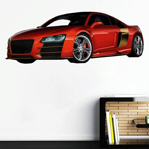 Kcik Full Color Wall Decal A Powerful Sports Car Speed Bedroom - Sports cars for teens