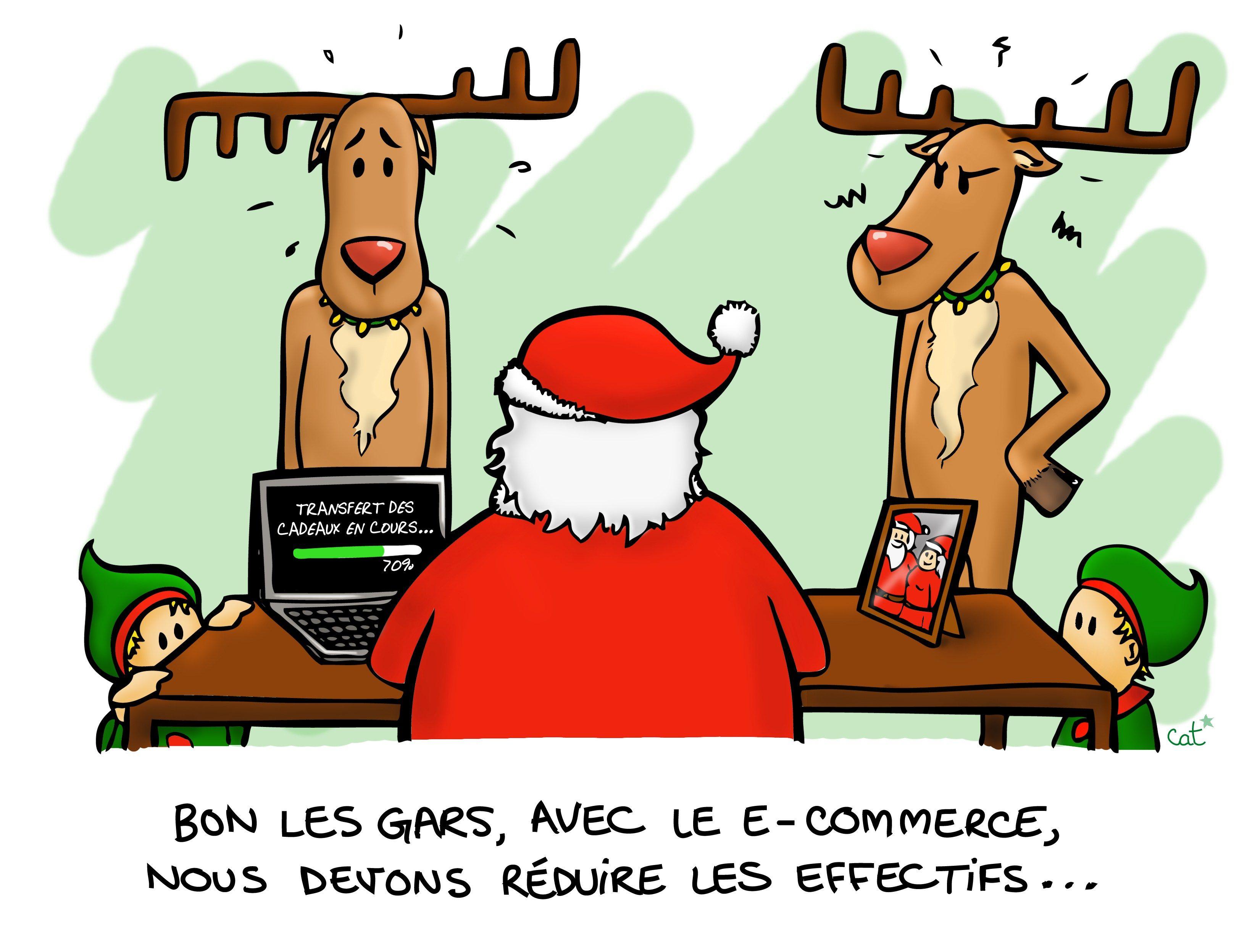 Illustration dessin no l christmas humour e commerce - Dessin theme noel ...