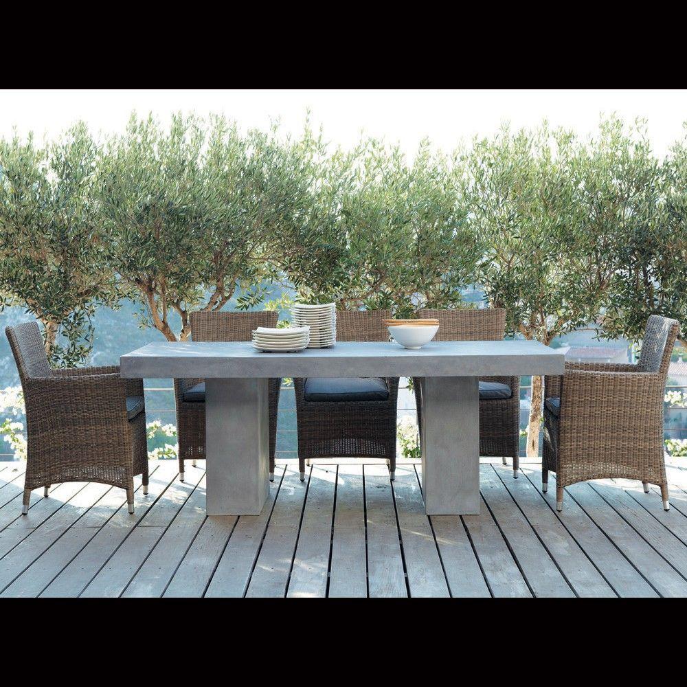 Concrete look table maisons du monde submitted by andrea with maison du monde mobilier exterieur - Mobilier jardin oriental saint denis ...