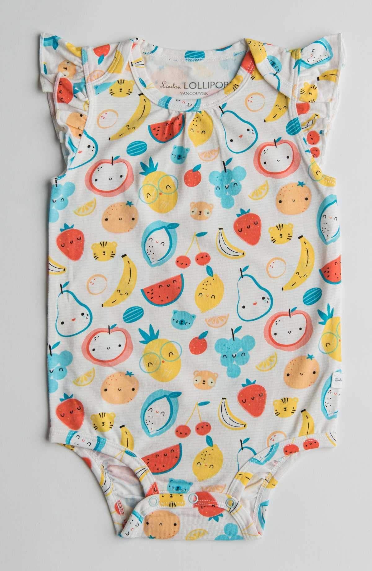 Girl's Bodysuit - Cutie Fruits - 12-18 M