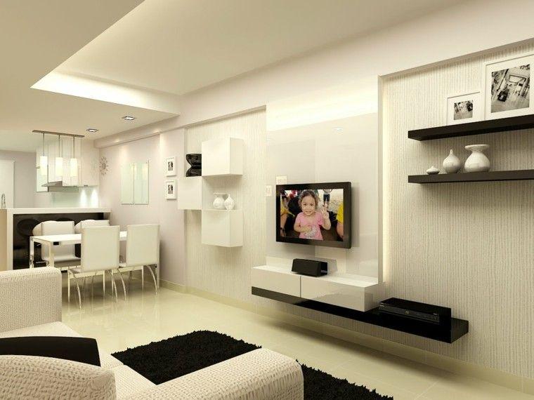 Sala Estar De Color Beige Y Negro  Decora Tu Hogar  Pinterest Magnificent Living Room Design For Small House Decorating Inspiration