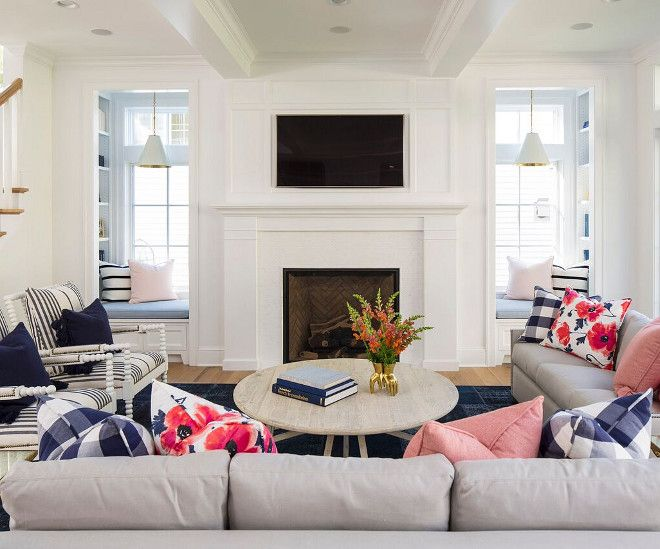 shingle style home interior design ideas fireplace seating coastal living rooms family room design shingle style home interior design