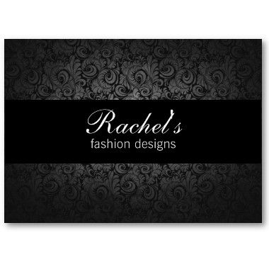 Customizable black gray floral fashion business card at zazzle customizable black gray floral fashion business card at zazzle sharoncullars reheart Images