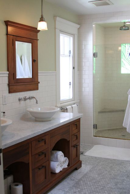 Kathleen Matt S California Craftsman House Tour Craftsman Bathroom Craftsman Style Bathrooms Bungalow Bathroom