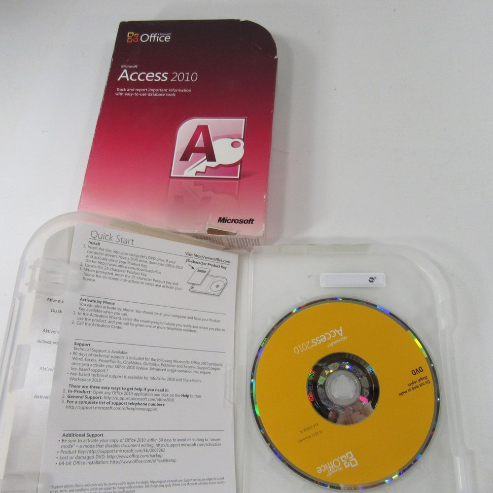 Microsoft Office Access 2010 077-05753 genuine full retail Windows 7