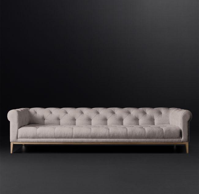 Italia Chesterfield Fabric Sofa RH Modern Homepolish - barock mobel versailles sofa