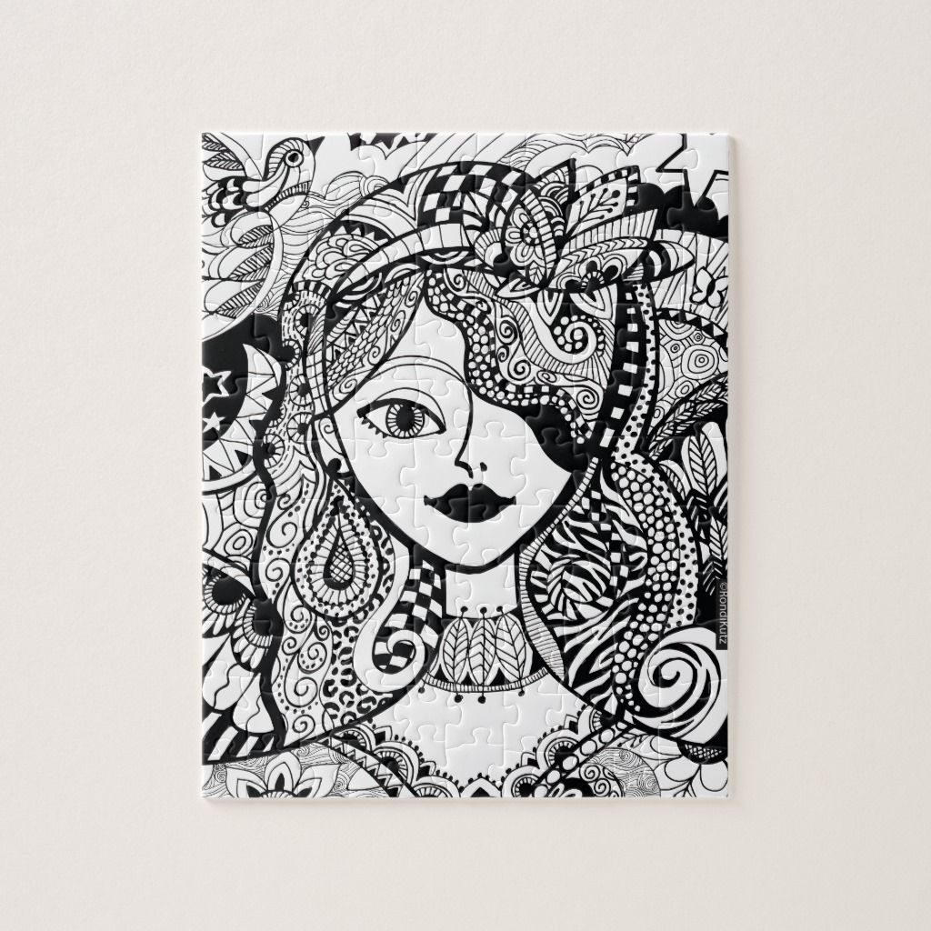 - Color Your Own Zendoodle Products Jigsaw Puzzle Jigsaw Puzzles