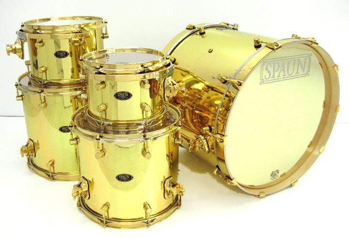 gold drum set   Weeloop Rsbeats   Photo : SPAUN GOLD DRUM