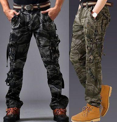 d tails sur hommes pantalon retro militaire arm e combat. Black Bedroom Furniture Sets. Home Design Ideas