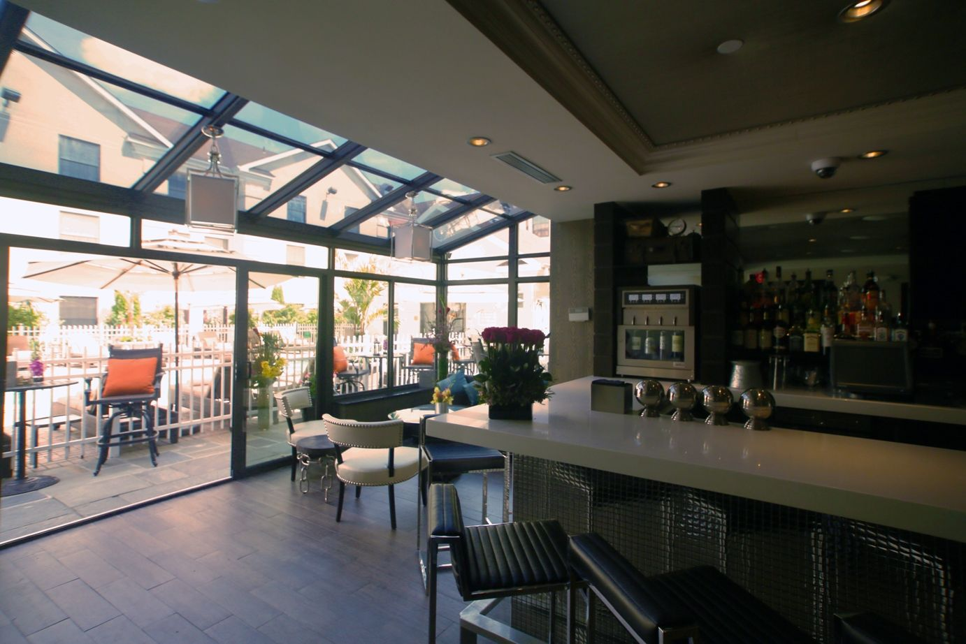 Wine Bar Lounge At The Inn Fox Hollow Allows For Direct Access To Pool Courtyard