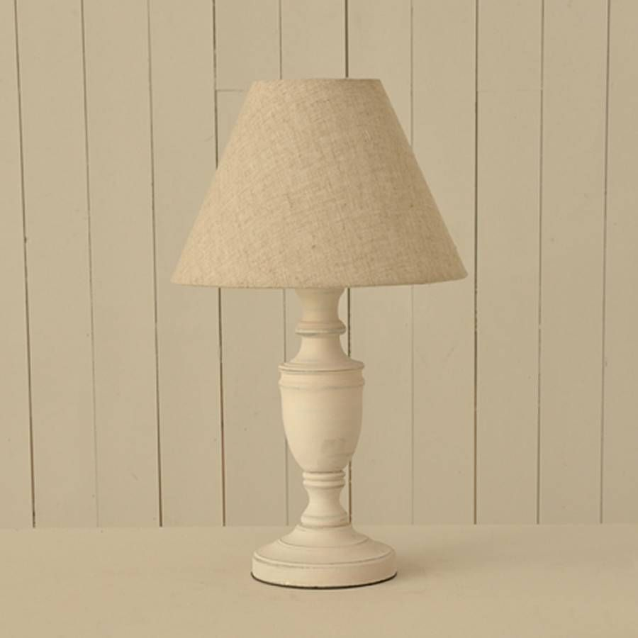 Antique white distressed table lamp linen shade linens and white antique white distressed table lamp linen shade mozeypictures Image collections