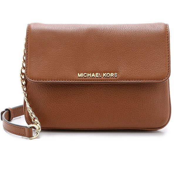 7a5f2bc9a533 MICHAEL Michael Kors Bedford Cross Body Bag (265 CAD) ❤ liked on Polyvore  featuring bags, handbags, shoulder bags, luggage, leather handbags, brown  leather ...