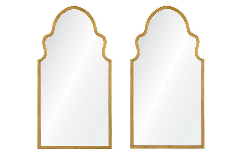 Bianca Wall Mirrors Gold Leaf In 2020 Mirror Wall Modern Mirror Wall Lighted Wall Mirror